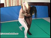 Pantyhose Catfight Ellie vs Tink 1
