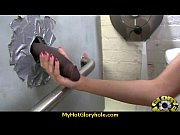 babe sucks and fucks black cock at gloryhole 17