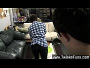 Gay video He unbuckles Rad&#039_s cut-offs and takes his fat member in his