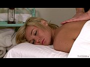 Busty Aubrey Kate on massage table