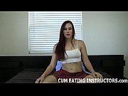you can cum but you have to eat.