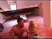 Busty blonde gets tied in bdsm action