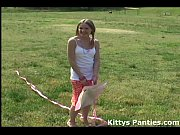 Cute 18yo teen Kitty flying a