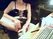 Mom having fun at PC caught by hidden cam. Amateur
