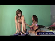 Latina lesbians fuck with their toys
