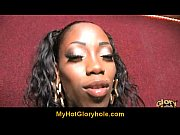 Gloryhole interracial porn : Hot ebony sucking big cock 7
