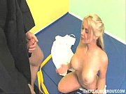 hot blonde karate chick sucks and tit-fucks her master