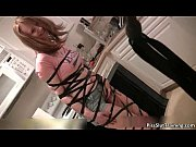 sexy brunette babe gets aroused for.