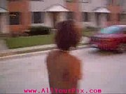 AllYourPix_com - Black Girl Walking In Street Nude