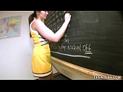 teen student jerks off her teacher