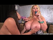 Samantha 38G and Annika Adams toying lesbians
