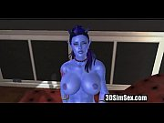 3d fantasy character fucks ans squirts