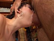 Sasha Grey deep throat Cum swallowing moment