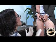 Sexy slim white wife dominates hubby with black cock