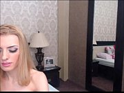 Thin shemale jerks off her bed