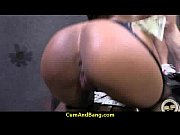 super hot ebony chick blows a group of.