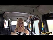 Hot customers pussy gets crushed and  granted facial in the taxi