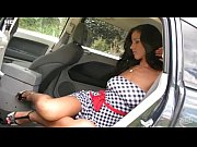 Pornstar Angel Dark car backseat dildo masturbation
