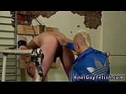 Gay sex movietures eat cum Chained to the railing, youthfull and