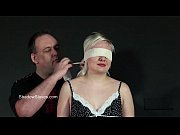 Blindfolded blonde babes tit torment and whipping in harsh dungeon bdsm
