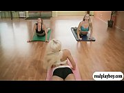 yoga session with monster boobs instructr ... nude playboytv