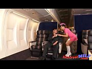 She gets fucked on a airplane and takes facial load