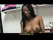ebony slut blows a group of horny dudes 23
