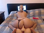 blonde webcam model fucks her ass.