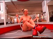 dirty blonde chick gets bonded and.