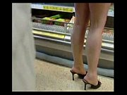 no panties mini dress in supermarket