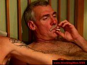 smoking gay couple tugging and fucking