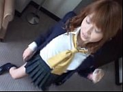 Pretty schoolgirl takes uniform off while ...