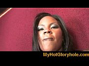 Gloryhole Initiations Black babe sucking white cock 10