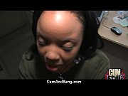 Cum Ebony Whore Takes Multiple Facials 4