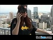 batgirl stroking dick with nylons on