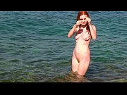 Barbara Barbeurre having a swim in the sea - extremely sexy video