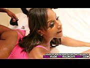 A chocolate and young babe amateur with ebony skin in a porn clip