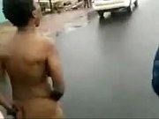 naked woman gathers crowd