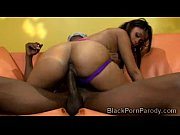 Beautiful ebony goddess mounts a massive black schlong in parody