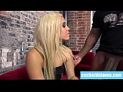 Blonde wife gives her white holes to black master