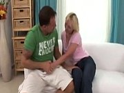 Blonde Mature hard Deep fuck in couch