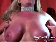 Busty blonde mature with pink toy