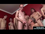 Young guys get covered in loads of hot cum - Bukkake Boys 26