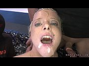 blonde babe gets sperm in the.