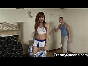 Emo Tranny Cheerleader Gets Analed!