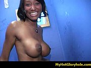 Black girl initiated in the art of gloryhole blowjob 31