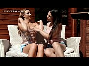 Outdoor sensual lesbian moment with teen beauties
