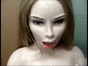 Sex doll  love doll Open mouth and streatch she gives head