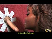 Natural cute black teen tries out gloryhole 13