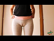 big cameltoe teen in yoga pants, stretching and.